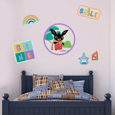 Bing Wall Sticker - Messy Play Badges Decal Set