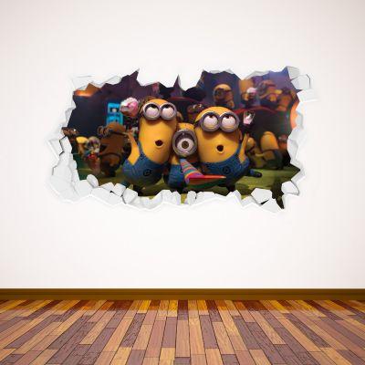 Despicable Me - Minion Party Broken Wall Sticker