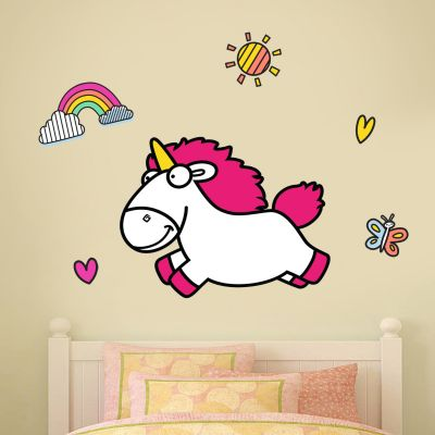 Despicable Me - Fluffy Unicorn Wall Sticker Set