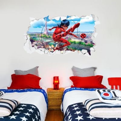 Miraculous - Ladybug Broken Wall Paris Wall Sticker