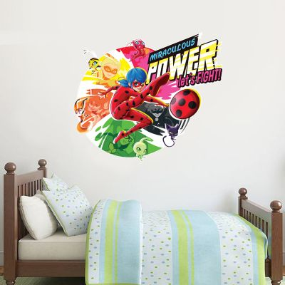 Miraculous - Power Let's Fight Wall Sticker