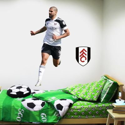 Fulham F.C. - Aleksander Mitrovic Player 2020 Wall Sticker + Bonus Fulham Crest Decal