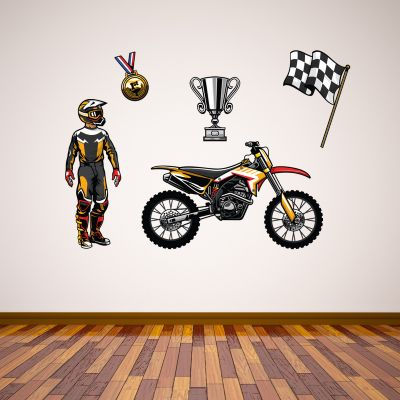 Motorcross Wall Sticker Set