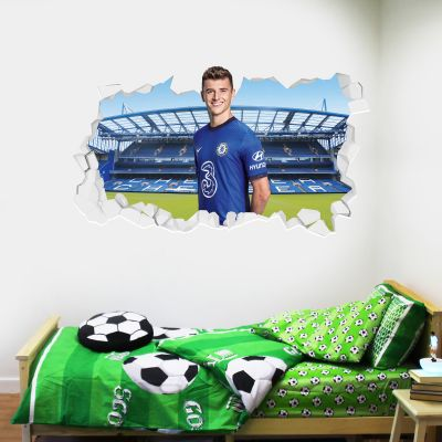 Chelsea Football Club - Mason Mount 20/21 Broken Wall Mural + Blues Wall Sticker Set