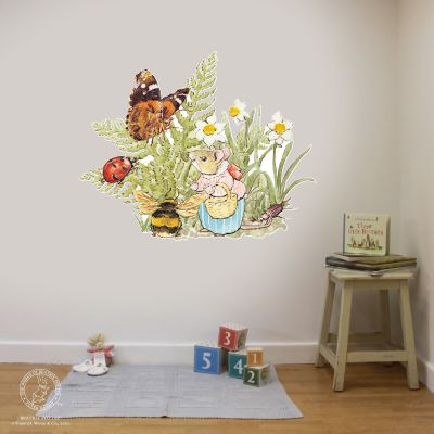 Peter Rabbit Wall Sticker - Mouse Insects Flowers