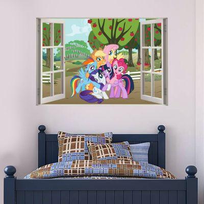 My Little Pony - Group Sweetapple Acres Road Window Wall Sticker