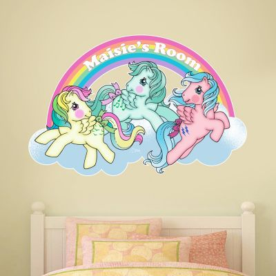 My Little Pony - Retro Rainbow Personalised Wall Sticker