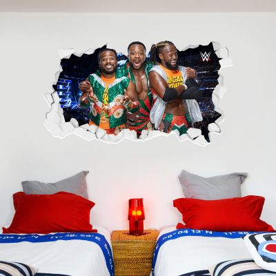 WWE - New Day Group Broken Wall Sticker