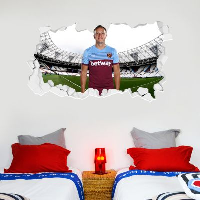 West Ham United Football Club - Mark Noble Smashed Wall Mural + Hammers Wall Sticker Set