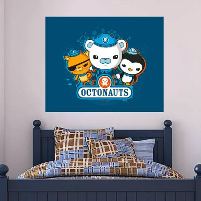Octonauts 3 Characters Bubbles Background Wall Sticker Mural
