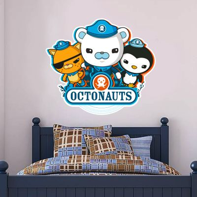 Octonauts 3 Characters Cut Out Wall Sticker Mural