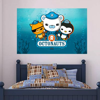 Octonauts Wall Sticker Mural - Captain Barnacles Bear, Kwazii Kitten and Peso Penguin