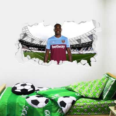 West Ham United Football Club - Angelo Ogbonna Smashed Wall Mural + Hammers Wall Sticker Set