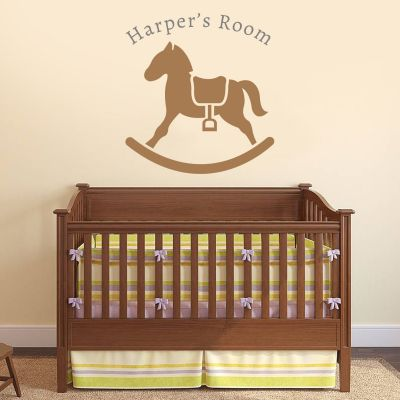 Rocking Horse and Personalised Name Wall Sticker