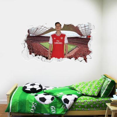 Arsenal Football Club - Mesut Özil Smashed + Gunners Wall Sticker Set