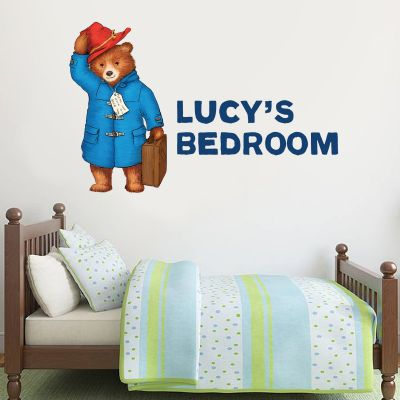 Paddington Bear - Personalised Name Paddington Wall Sticker 007