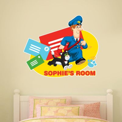 Postman Pat - Pat and Jess Personalised Name Wall Sticker