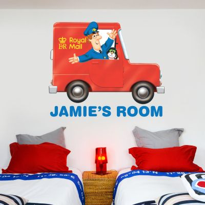 Postman Pat - Van Personalised Name Wall Sticker