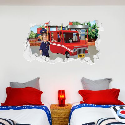 Postman Pat - Van Broken Wall Sticker