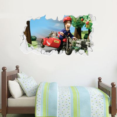 Postman Pat - Bike Broken Wall Sticker