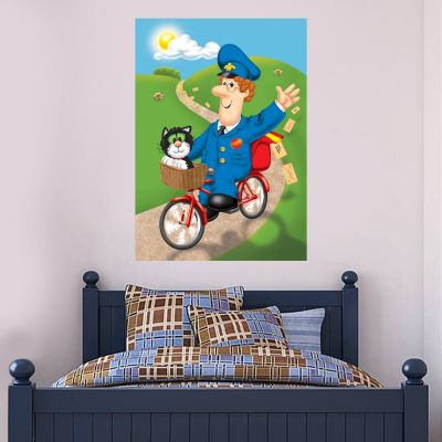 Postman Pat - Bike Poster Wall Sticker