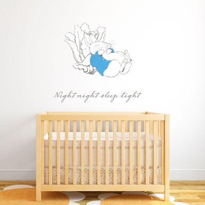 Official Peter Rabbit Night Night Sleep Tight Wall Sticker Mural