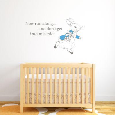 Peter Rabbit Run Along Wall Sticker Mural