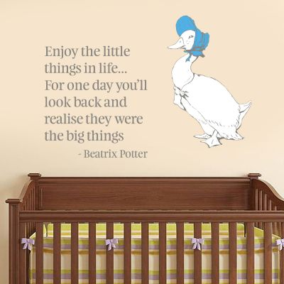 Peter Rabbit Jemima The Little Things In Life Wall Sticker Mural