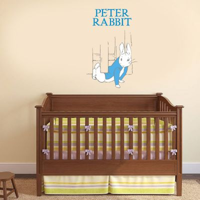 Peter Rabbit Sneaking Under The Fence Wall Sticker Mural