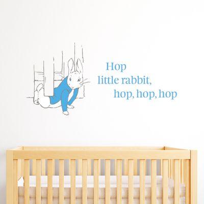 Peter Rabbit Hop Under The Fence Wall Sticker Mural