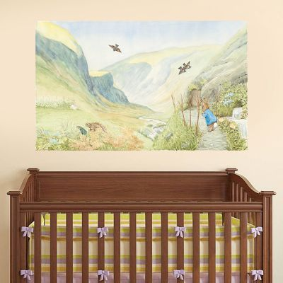 Peter Rabbit Valley Scene Wall Sticker Mural