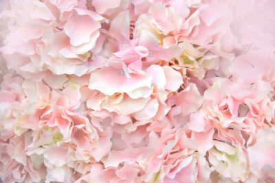 Pink Artificial Flowers Wall Mural