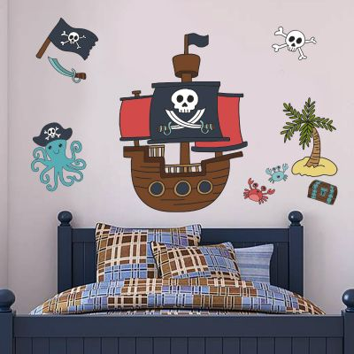 Pirate Wall Sticker Set Pirate Ship