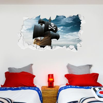 Pirate Wall Sticker Pirate Ship Broken Wall
