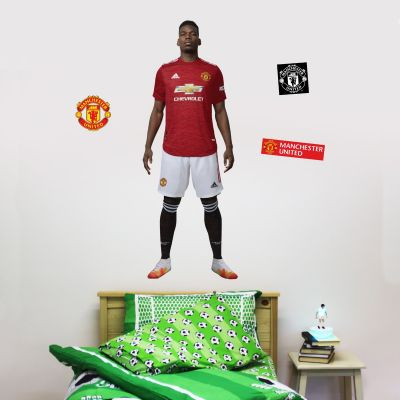 Manchester United F.C. - Paul Pogba 20/21 Player Decal + Bonus Wall Sticker Set