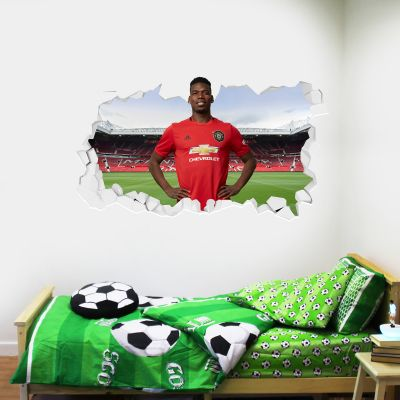 Manchester United F.C. - Paul Pogba Broken Wall Sticker