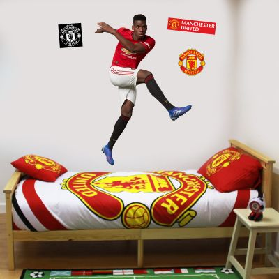 Manchester United F.C. - Paul Pogba Shooting Player Decal + Bonus Wall Sticker Set
