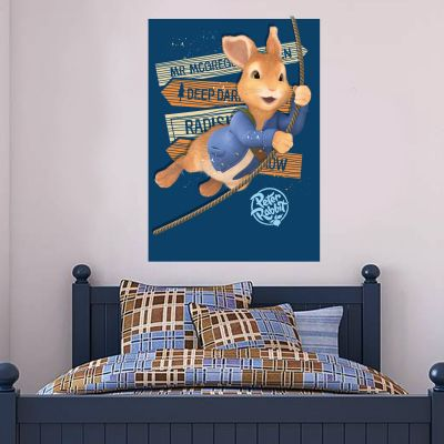 Peter Rabbit Rope Swing Wall Sticker Mural