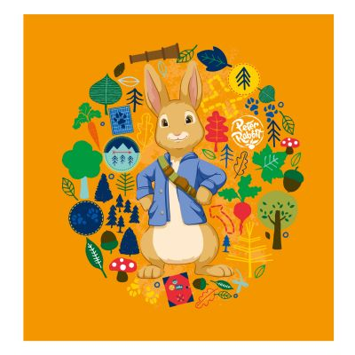 Peter Rabbit Adventure Trail Wreath Wall Sticker Mural