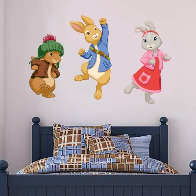 Peter Rabbit, Benjamin Bunny and Lily Bobtail Trio Wall Sticker Mural