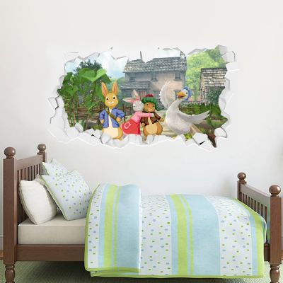 Peter Rabbit and Friends Hill Top Farm Smashed Wall Sticker Mural