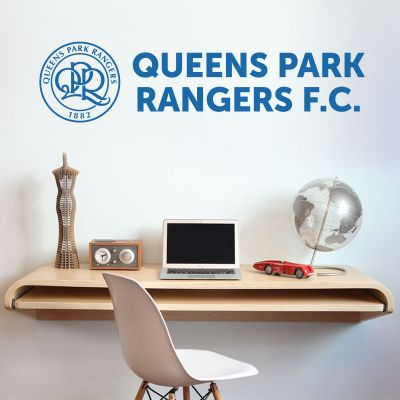 Queens Park Rangers F.C. - Crest & Club Name + Hoops Wall Sticker Set