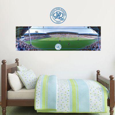 Queens Park Rangers F.C. - Loftus Road Stadium + Hoops Wall Sticker Set
