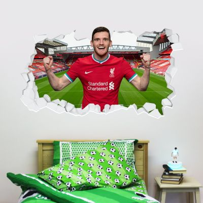 Liverpool Football Club Andrew Robertson 20/21 Smashed Wall Mural + Badge Decal Set