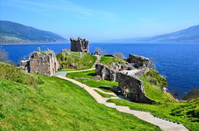 Ruins of Urquhart Castle, Scotland Wall Mural