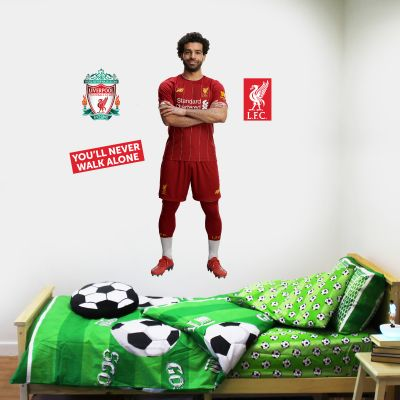 Liverpool FC - Mo Salah Player Decal + LFC Wall Sticker Set