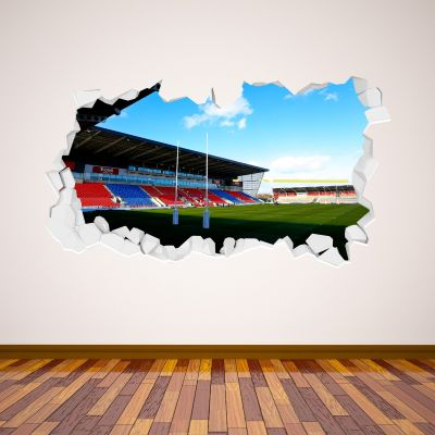 Salford Red Devils Rugby Club AJ Bell Stadium Broken Wall Sticker