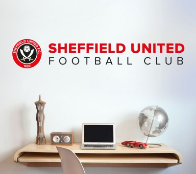 Sheffield United F.C. - Crest and Club Name Wall Sticker