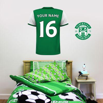 Hibernian F.C. Personalised Shirt Wall Sticker