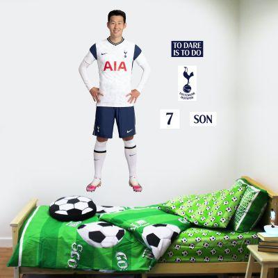 Tottenham Hotspur Football Club - Son Heung-min 20/21 Player Wall Mural + Spurs Wall Sticker Set